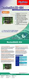Highpoint RocketRAID 454 RR454 Leaflet