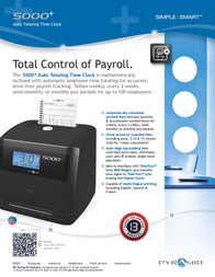 Pyramid Time Systems 5000HD Leaflet