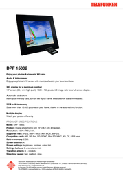 Telefunken DPF 15002 12486 Leaflet