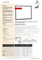 Projecta ProScreen 138x180 Matte White S 10200016 Leaflet