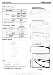 Xcell NIMH-AKKU AAAA 300 MAH 136423 Data Sheet