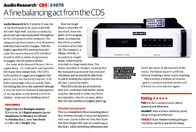 Audio Research CD5 Leaflet