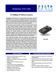 CP Technologies 10/100Mbps IP Network Camera FCS-1030 Leaflet