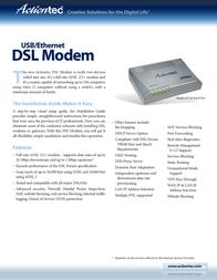 Actiontec GEU003AD3A-01 USB/Ethernet DSL Modem Router GEU003AD3A-01 User Manual