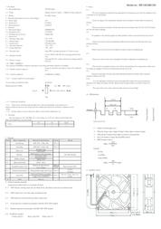 Sepa RD12038B24M 14 -28 Vdc DC brushless fan, axial fan 2450 rpm 172 m³/h RD12038B24M Data Sheet