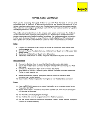 Logic3 JiveBox MIP100K User Manual