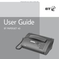 BT PaperJet 40 User Manual