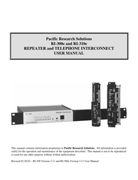 Pacific Digital RI-310e User Manual