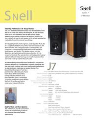 Snell Acoustics SR7 Series 7 Leaflet