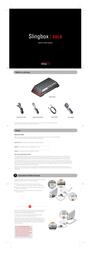 Sling Media Slingbox Solo Network Media Player SB260100 Leaflet