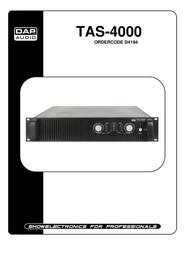 DAP Stereo Receiver TAS-4000 User Manual