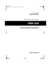 Optimus 32-3009 User Manual