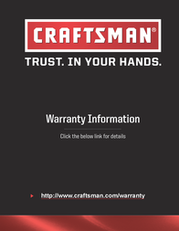Craftsman Professional Use 1/2 in. Replacement Tape Blade Warranty Information