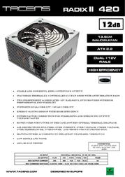 Tacens RADIX II 420 1RII420 Leaflet