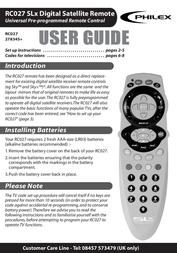 Philex rc027 User Manual