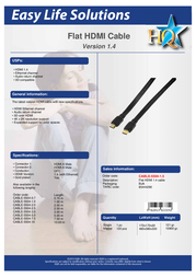 Valueline CABLE-5504-10 Leaflet