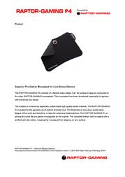 Raptor Gaming Gaming Mousepad P4 509 Leaflet