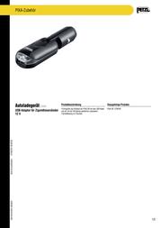Petzl E78004 Data Sheet