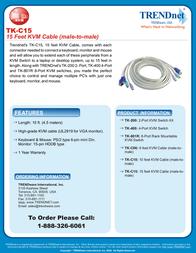 Trendnet TK-C15 Leaflet