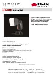 Braun Photo Technik Una 14300 Leaflet