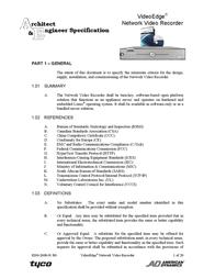 American Dynamics VideoEdge ADNSNVR-CL1 User Manual