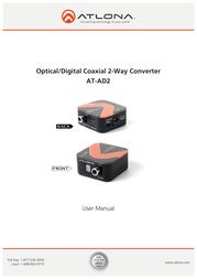 Atlona AT-AD2 User Manual