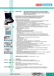 Pce Merz VDE-tester MZ69570 Information Guide