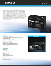 Forza Power Technologies FUB-1245 Leaflet