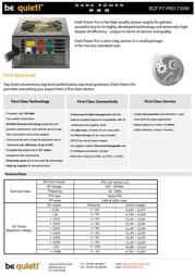 be quiet! Dark Power Pro 750W BN074 Leaflet