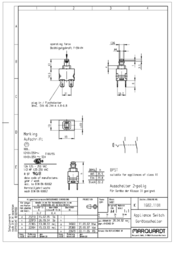 Marquardt 250 V/AC 12 A series 1680 pressure switch 1682.1101 2-pole On/Off 1682.1101 Data Sheet