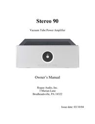 Rogue Audio Stereo 90 User Manual