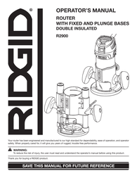 Ridgid R2900 User Manual
