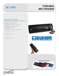 Supersonic SC-1319 SC-1319BLACK Leaflet