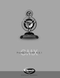 Klipsch ProMedia GMX A2.1 090542082714 User Manual