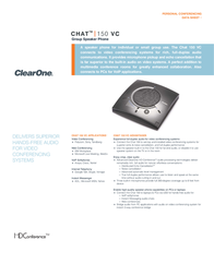 ClearOne Chat 150 VC Data Sheet