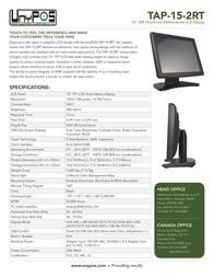 UnyPOS TAP-15-2RT Leaflet
