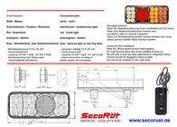 Secoruet SecoRüt LED Schlussleuchte für Anhänger und Zugfahrzeug Links · Blinklicht · Schlusslicht · Brem 95313 Leaflet