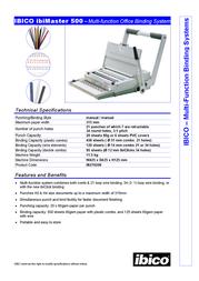 Ibico ibiMaster 500 IB270208 Leaflet