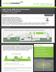 Amped Wireless A8EX Leaflet