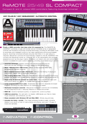 Novation remote sl compact Specification Guide