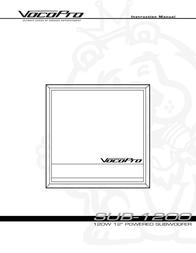 Vocopro SUB-1200 User Manual