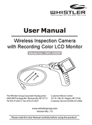 Whistler WIC-3509P User Manual