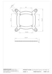EK Water Blocks Mounting plate Supreme 775&1366&1156 3830046997630 Leaflet