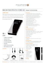 Maxfield MAX Sin Touch 512MB MP3-Player 101750 Leaflet