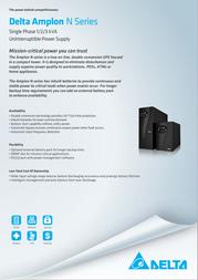 Delta Amplon N 1kVA GES102N Leaflet