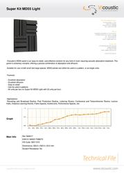 Vicoustic Super Kit MD55 Light B00017 Leaflet