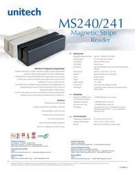 Unitech MS241 MS241-3UG Leaflet