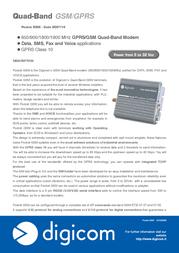 Digicom Pocket GSM 8D0114 Leaflet