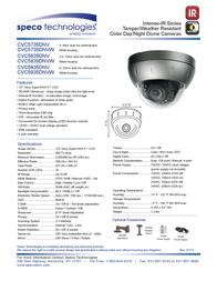 Speco Technologies CVC5935DNV Leaflet
