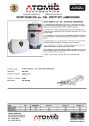 Atomic Accessories DSA.126W Leaflet